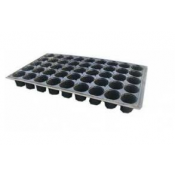 Plastic seedling trays with round cells