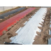 Black/Silver Mulch film 20 mic, sheet 1.0x2000