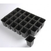 Plastic seedling trays with square cells