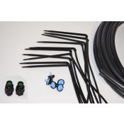 Drip irrigation kit for flower pot Black Spider