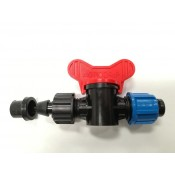 Off take mini valve with rubbo rubber for drip tape Ø 17